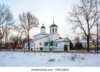 PSKOV, RUSSIA-FEBRUARY 25,2017:The Church of St. Elijah the Prophet-Wet,1677
