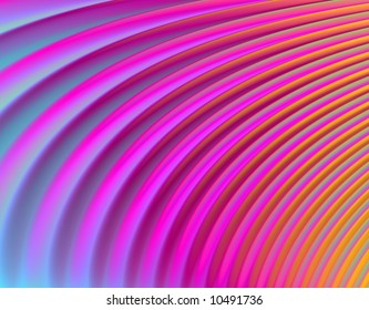 """Psychedelic """"feather"""" pattern (magenta, pink, blue, orange) - abstract"""