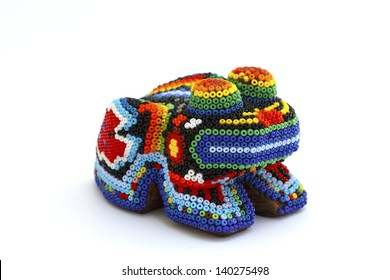 Psychedelic frog, mexican craft