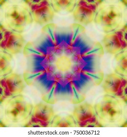 Psychedelic pattern with geometric design