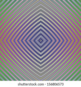 Psychedelic  Pyramid Plan / Digital abstract fractal image with a pyramid plan design in blue, yellow, green, pink and purple.
