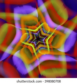 Psychedelic Rainbow Flower