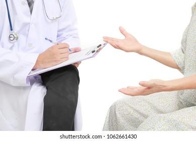 Psychiatrist talk to the patient.