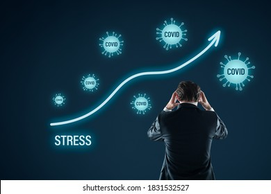 Psychologist disturbed by the growing number of people under stress in covid-19 epidemic and crisis time. Frequent reading news about covid negatively impact mental resilience results in stress.