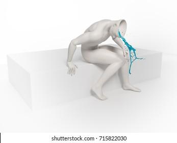 Psychology and mental health concept illustration - 3D rendering