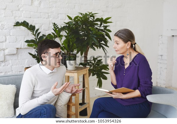 Mental Health Counselor >> Psychology Therapy Psychiatry Mental Health Counseling Stock