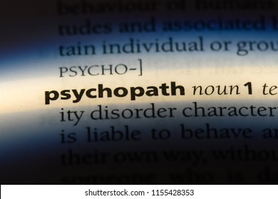 psychopath word in a dictionary. psychopath concept.