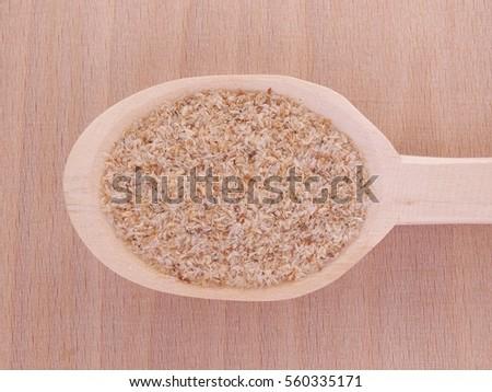 Psyllium Seed Husks Wooden Spoon Stock Photo Edit Now 560335171
