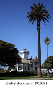 Pt. Fermin Lighthouse and palm three