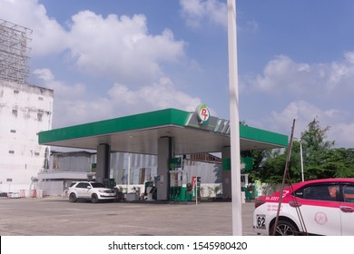 Pt oil pump is popular in Thailand, Nonthaburi - Bang Bua Thong 31 October 2019