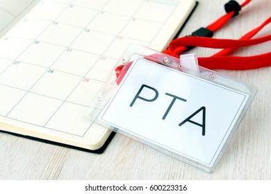 PTA name tag and personal organizer