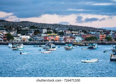 PTO Baquerizo Moreno Harbor in San Cristobal Island, Galapagos