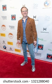 Ptolemy Slocum attends 2019 Pre-Oscars Rafi's Choice Gifting Suite and Concert at Waldorf Astoria Hotel, Beverly Hills, CA on February 22th, 2019