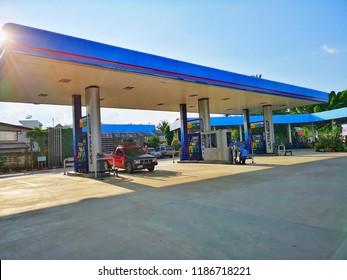 PTT Life Station, Petrol Station, Kamphaeng Phet, Thailand, September 2018