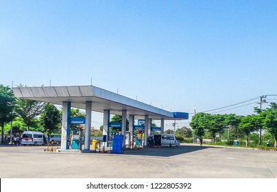 PTT : Popular Gas Station in Pathum Thani, Thailand, November 3, 2018