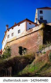 Ptuj Castle city walls in Slovenia. Architecture in Slovenija. Travel