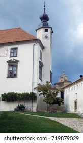 Ptuj Castle is a powerful medieval fortress, a local history museum and the main attraction of the city - Shutterstock ID 719879029