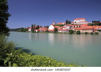 Ptuj Castle in Slovenia. Medieval landmark alongside Drava river.
