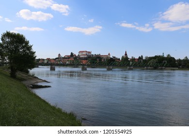 Ptuj the historical town next to river Drava, Slovenia