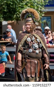 Ptuj, Slovenia - Avgust 18 2018: Roman games,  Roman soldier