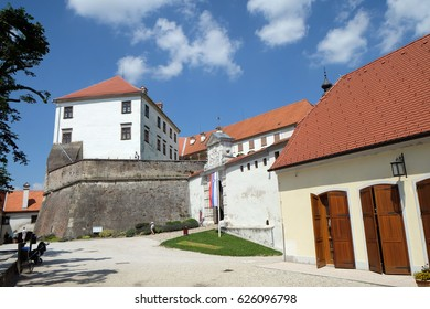 PTUJ, SLOVENIA - JULY 02: Castle in Ptuj, town on the Drava River banks, Lower Styria Region, Slovenia on July 02, 2016.