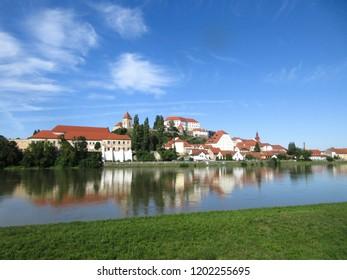 PTUJ, SLOVENIA - JUNE 14, 2017: Ptuj in front of Drava river