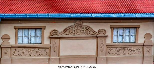 PTUJ, SLOVENIA, May 1: Traditional house decoration in Ptuj, Slovenia.