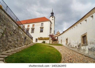 Ptuj , Slovenia - October 27, 2018: Ptuj Castle or Ptujski grad in Slovenia