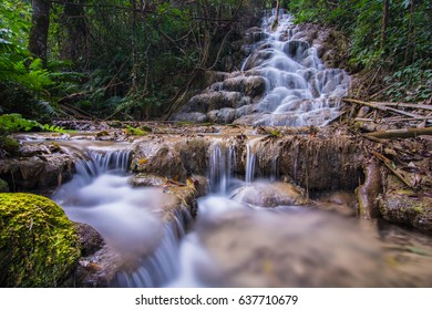 Pu Kang Waterfall In The Forest, ChiangRai Thailand