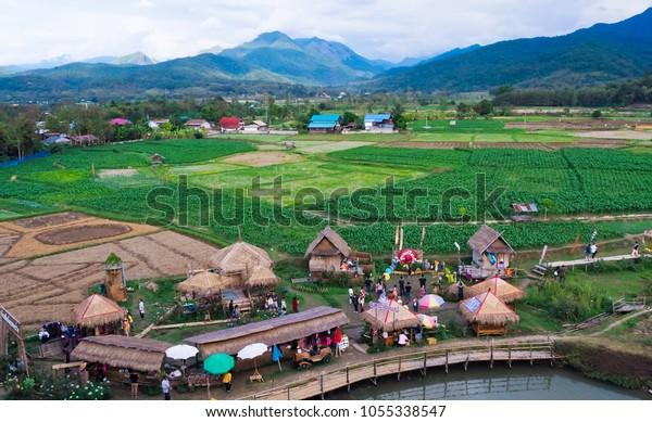 Pua Most People Do Farming Landscape Stock Photo (Edit Now