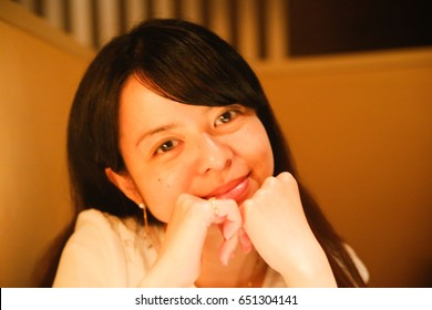 pub young attractive asian woman