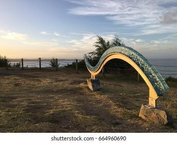 Public art by the lake