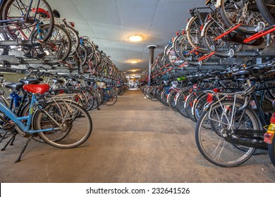 "Public Bicycle parking Groningen central station. The city of Groningen has been voted "" most cycle friendly city of the Netherlands"" for 3 years in a row."
