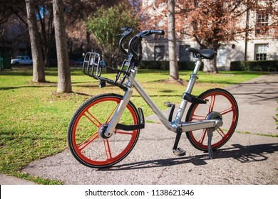 Public Bike in the city, there are the new transportation system in modern cities