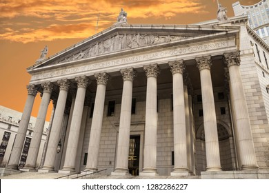 The public building of New York State Supreme Court located in the Civic Center neighborhood of Lower Manhattan in New York City