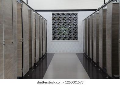 Public building toilets