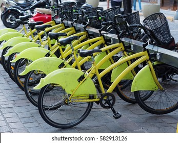Public city bicycles in Buenos Aires