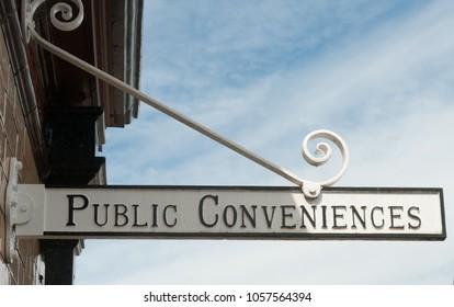 Public Conveniences Sign