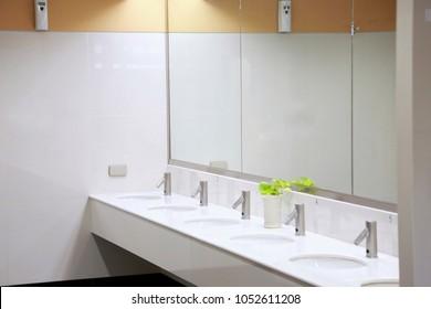 Public empty toilet