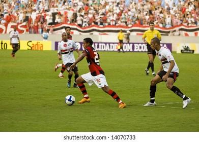 Public at Flamengo X Sao Paulo game (Brazilian Championship), at Marcana Stadium in Rio de Janeiro, June 13, 2008