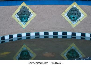 public fountain faces