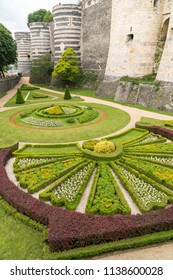 Public Gardens of the Chateau d'Angers  in the city of Angers in the Loire Valley in France. Founded in the 9th century by the Counts of Anjou, it was expanded to its current size in the 13th century
