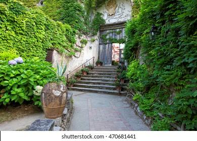 The public gardens of the Villa San Michele, Capri island, Mediterranean Sea, Italy, Europe