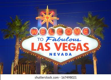 a public landmark sign of Las Vegas says welcome to fabulous Las Vegas