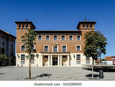 public library on Perez Prado square is a UNESCO World Heritage Site,Teruel, Spain
