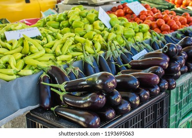 Public market for vegetables (pepper, eggplant, tomatoes)