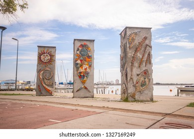 Public Monuments on the Beira Rio Avenue in Itajaí Santa Catarina
