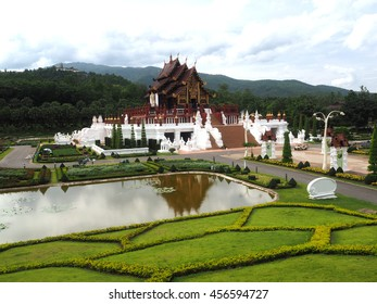 Public park top view at Chiang mai city of Thailand