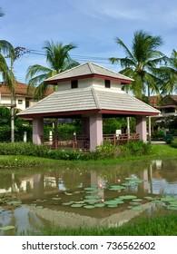 Public Pavilion near the pond, Bali Style.