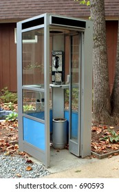 A public pay phone.